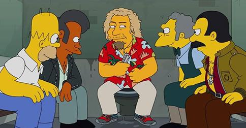 Sammy Hagar Simpsons