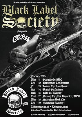 Crobot Black Label Society Tour