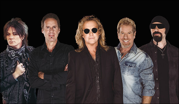 Night Ranger (left to right): Keri Kelli, Kelly Keagy, Jack Blades, Brad Gillis and Eric Levy (Photo courtesy of Night Ranger)