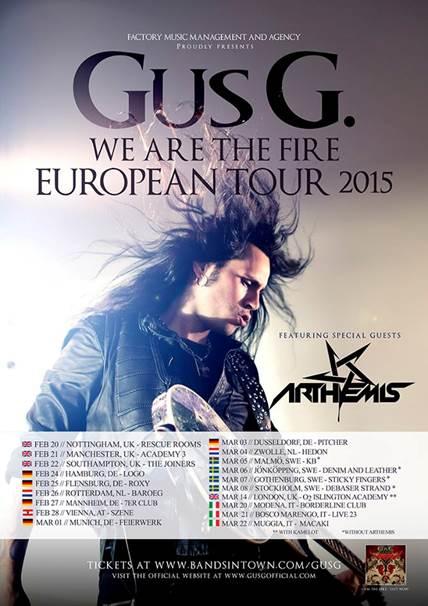 GUS G Tour 2015