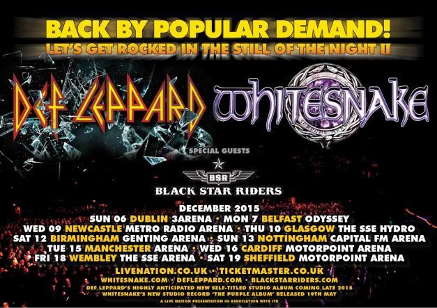Def Leppard Whitesnake 2015
