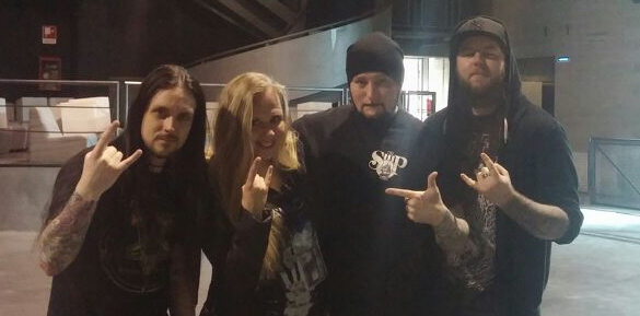 Tarja with Marcus, Steve and Oscar at Live Club