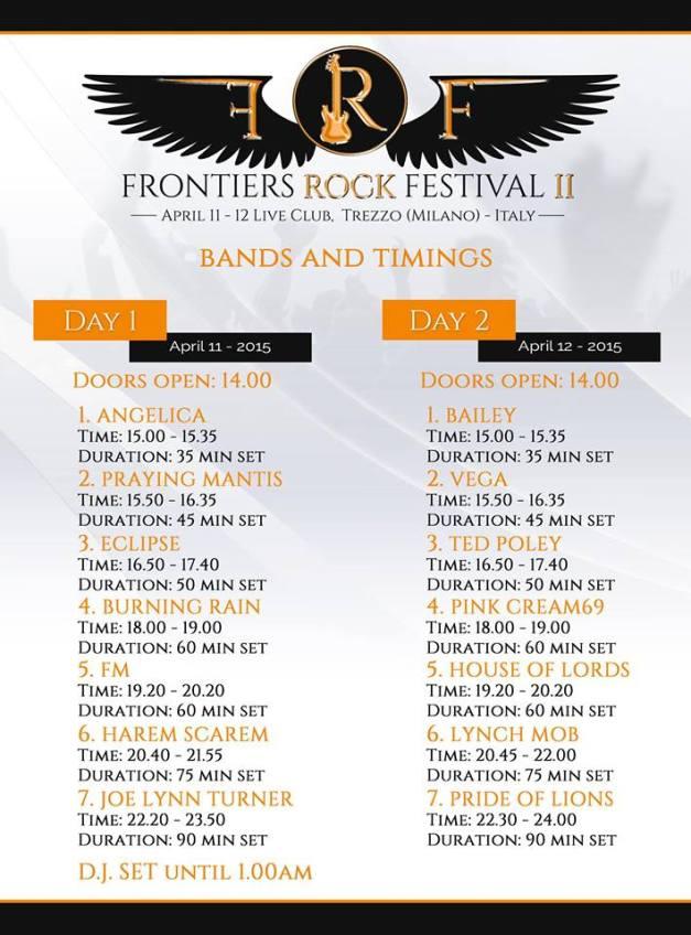 FrontiersRock-schedules