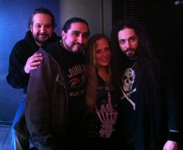 Tarja with Fabrizio Sassi, Alessandro Del Vecchio and Francesco Marras