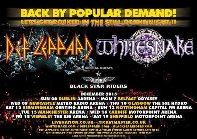 Whitesnake Def Leppard Tour 2015