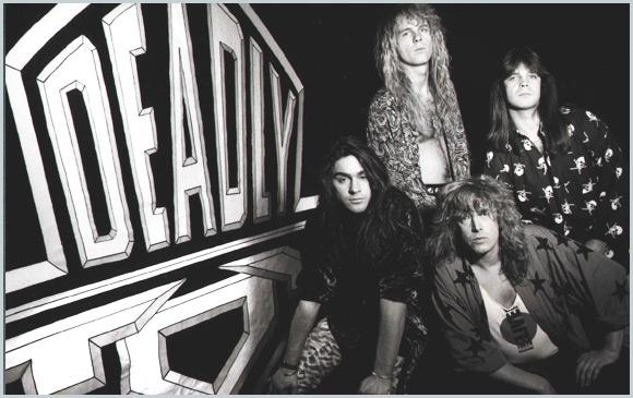 Chris Lyne, top left, with Deadly Toy, circa early '90s