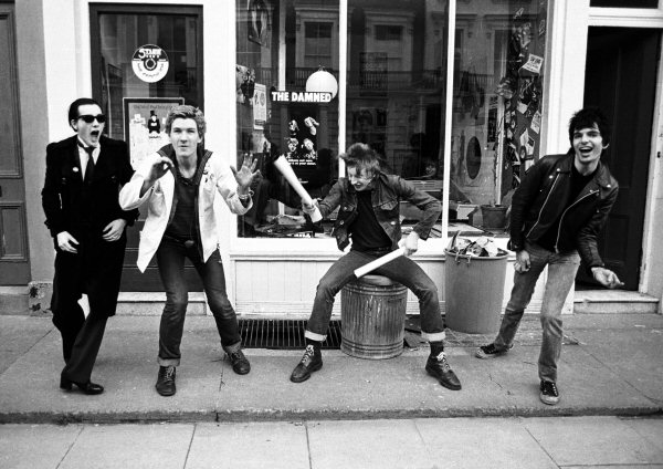 The Damned in 1977 - taken in front of Stiff Records in London - Photo by Ian Dickson/ian@late20thcenturyboy.com