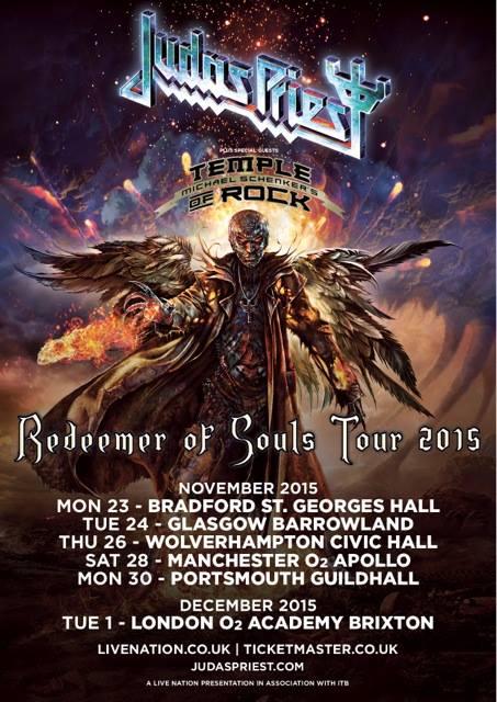 Judas Priest Uk Tour 2015
