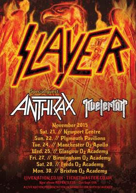 Slayer UK Tour