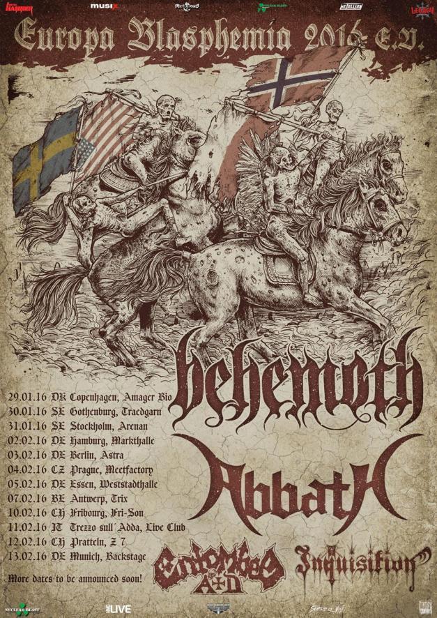 Behemoth Tour 2016