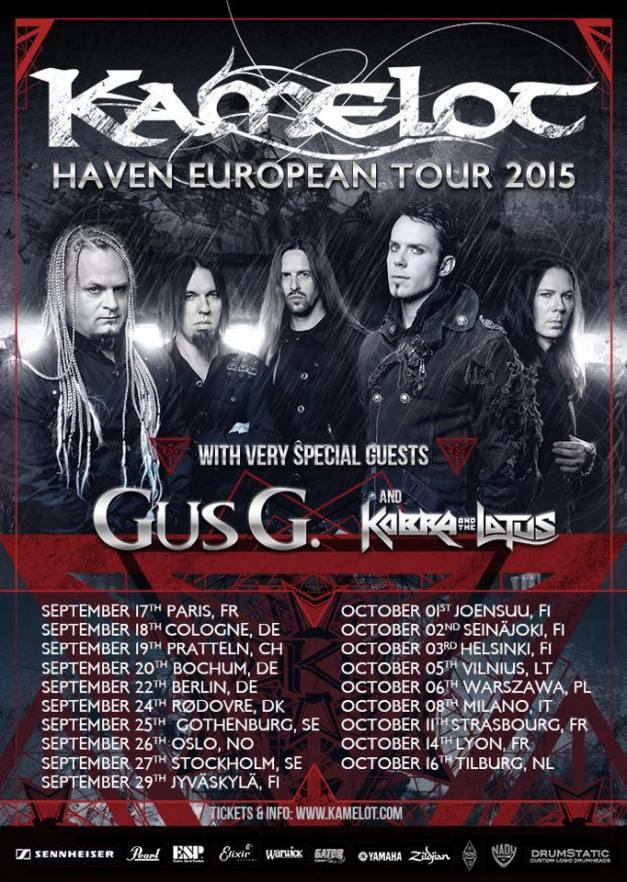 Gus G Kamelot Tour 2015