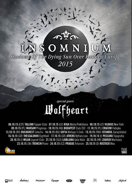 INSOMNIUM 2nd Europe Tour 2015