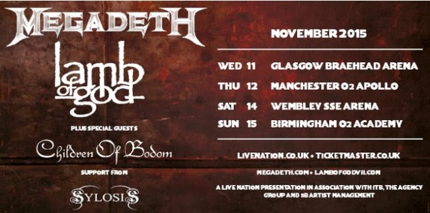 Children Of Bodom UK Tour