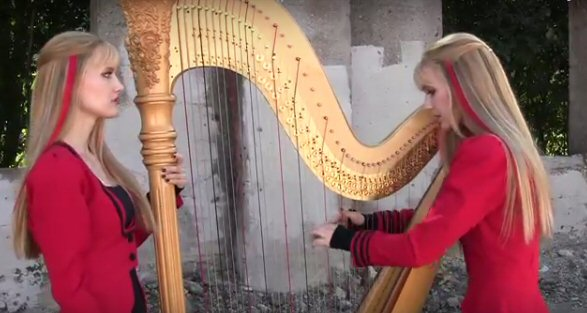 Harp Twins Cover Metallicas One Video Available Metal Shock