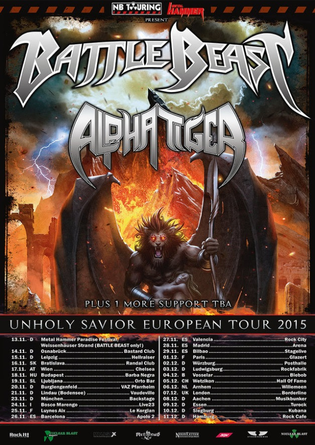 Battle Beast Tour 2015