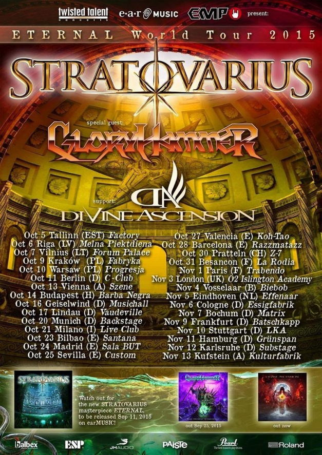 Gloryhammer Tour 2015