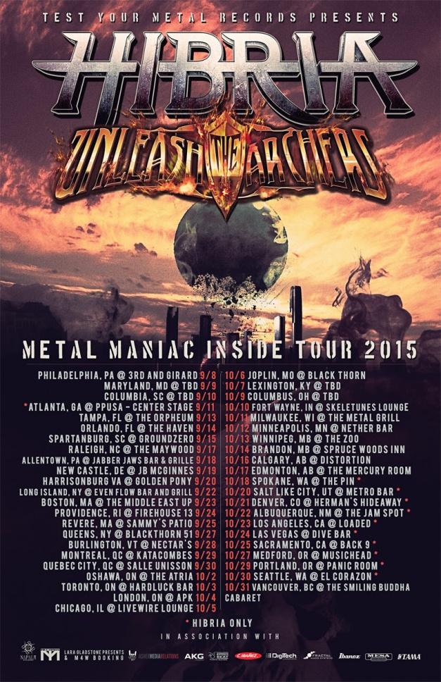Hibria Tour Dates