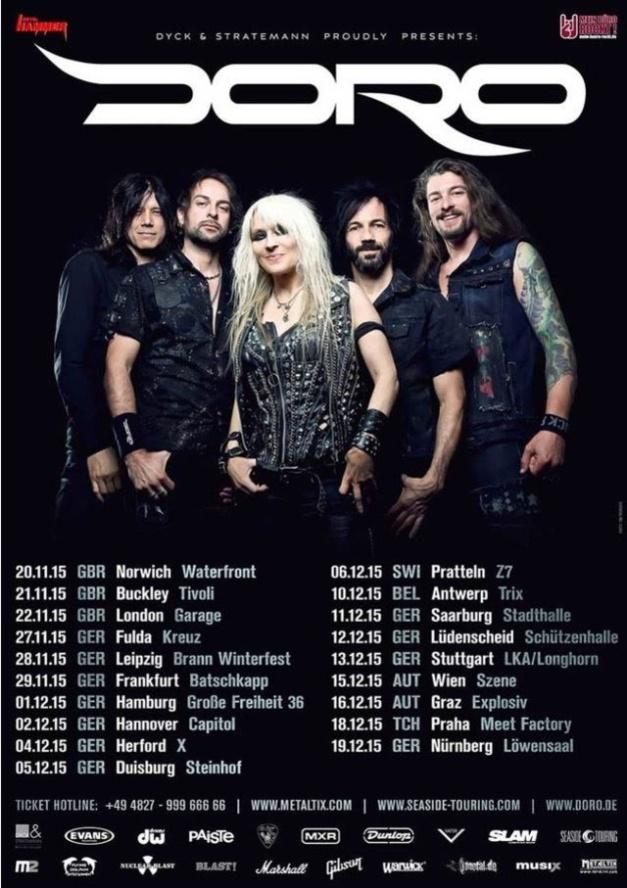 Doro europe tour 2015
