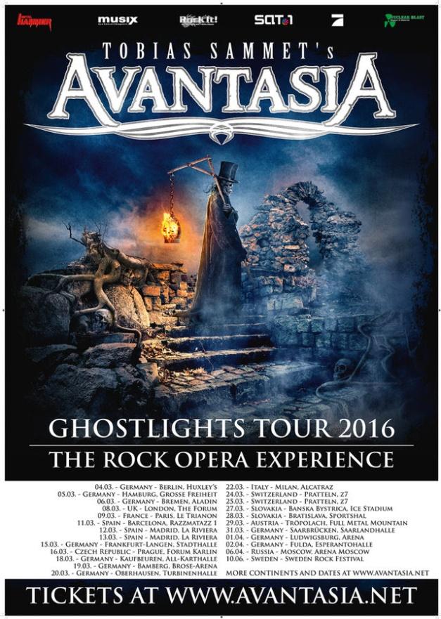 Avantasia Ghostlights Tour 2016