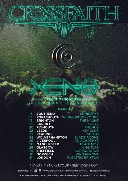 Crossfaith Tour 2016