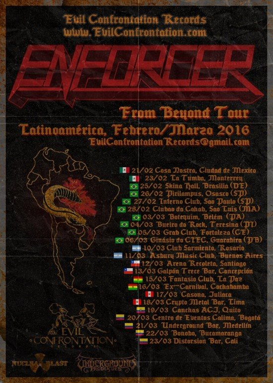 Enforcer-latin-american-tour