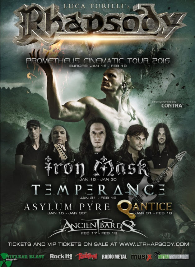 Luca Turilli Tour Flyer 2016