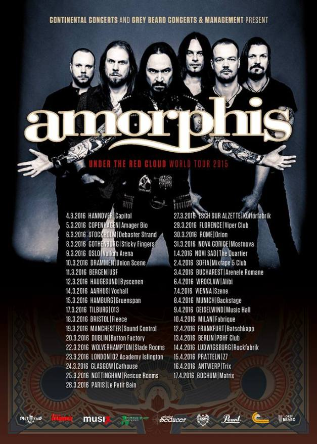 Amorphis European Tour 2016