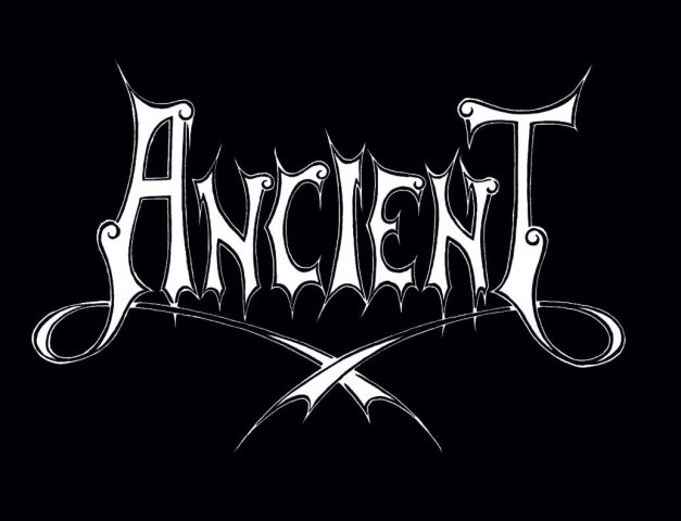 ancient logo white on black