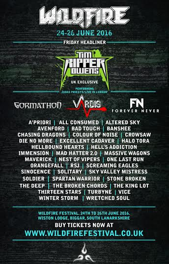 WILDFIRE FESTIVAL 2016: Announce VARDIS, GORMATHON And More