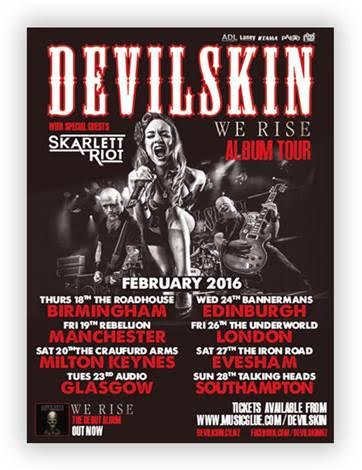 Devilskin UK Tour 2016