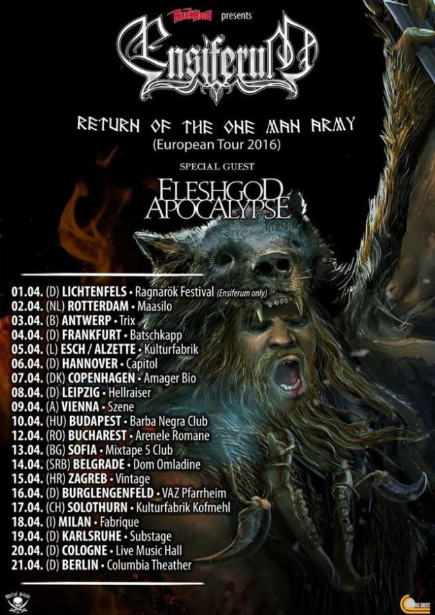 Fleshgod Apocalypse Tour 2016