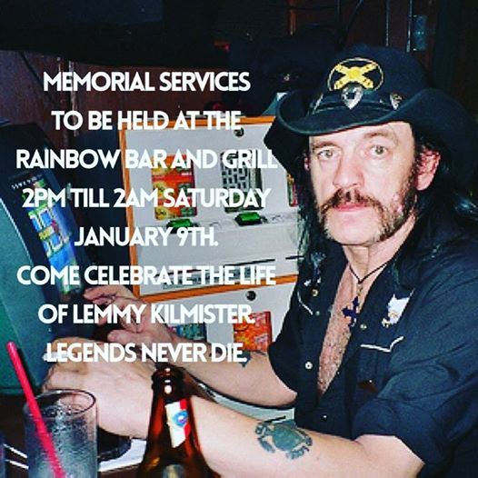Lemmy Rainbow Tribute Poster