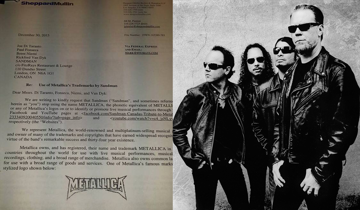 METALLICA: Threaten Cover Band With Law Suit | Metal Shock Finland