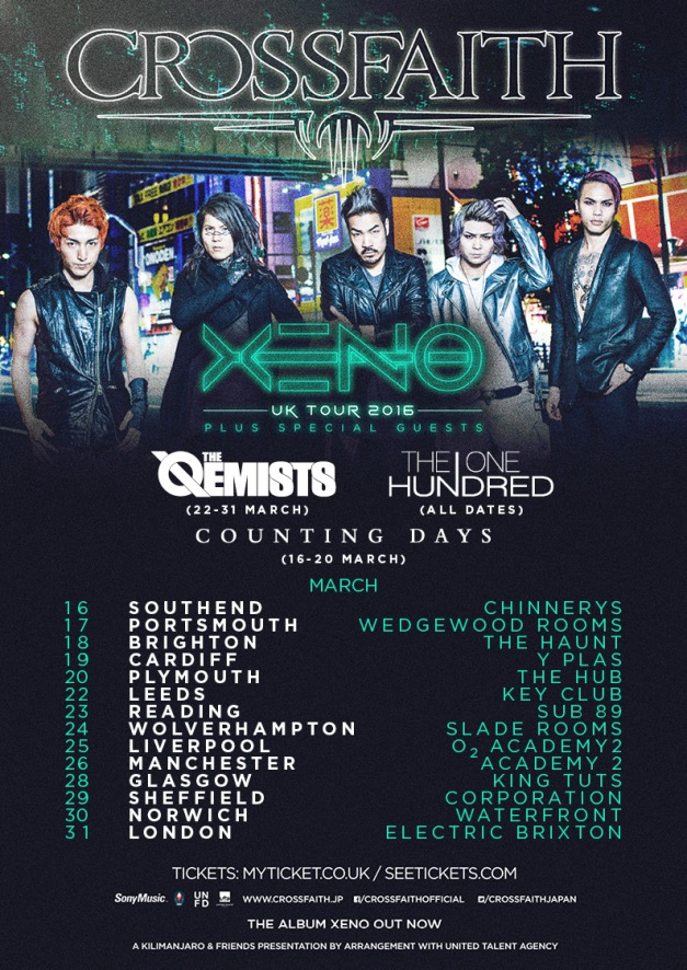 Crossfaith UK Tour 2016
