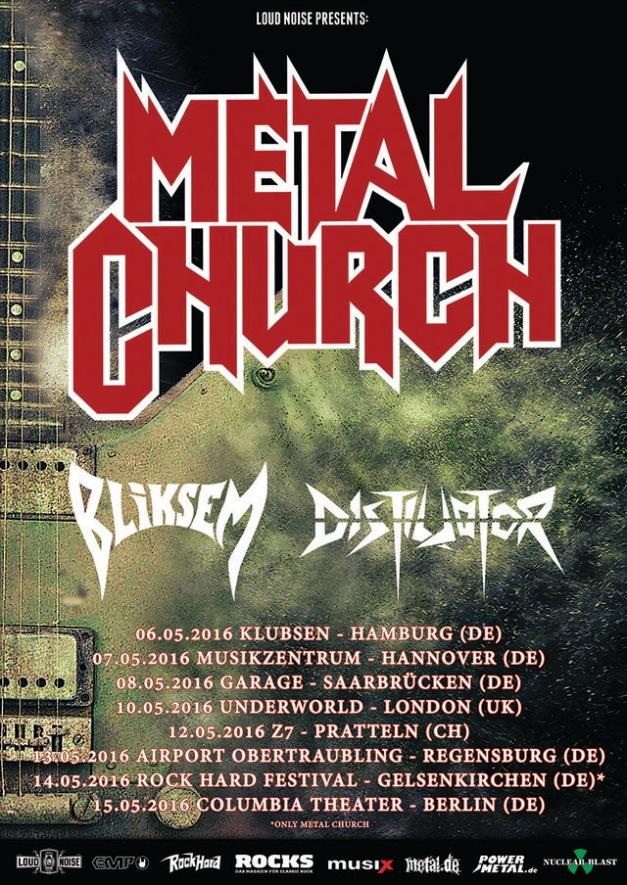 Metal Church European Shows 2016