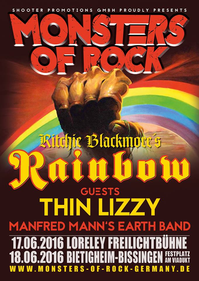 Thin Lizzy Announced As Special Guests Of Ritchie