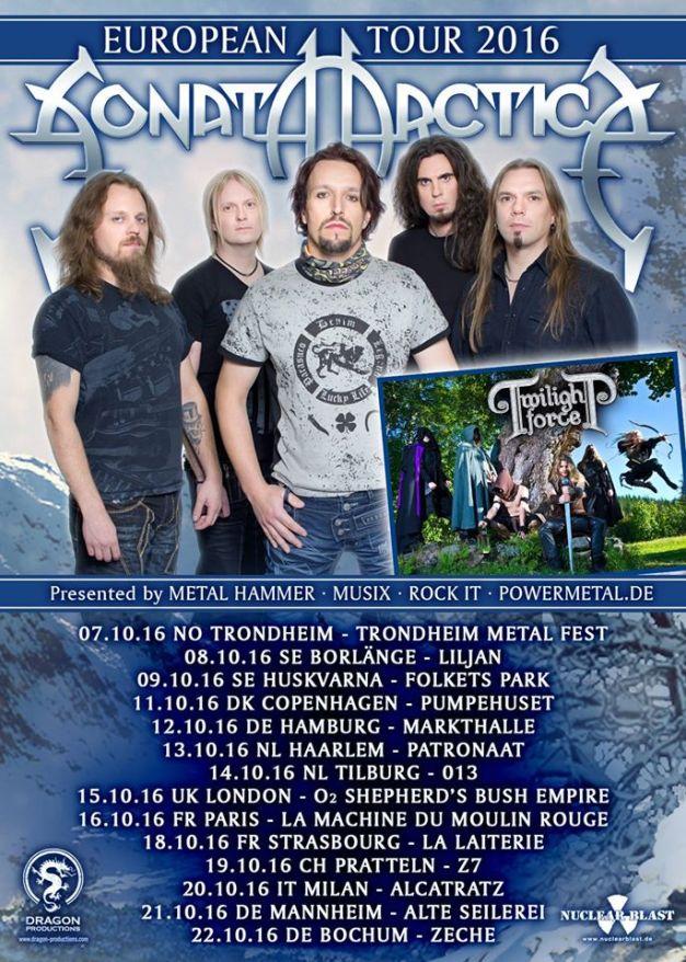 Sonata Arctica Euro Tour 2016