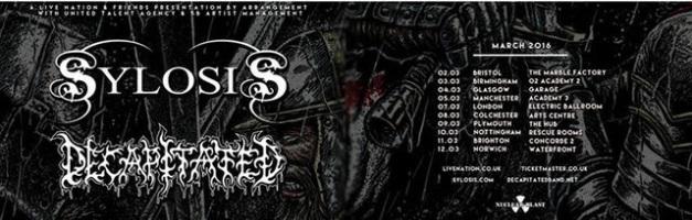 Sylosis Decapitated UK Tour 2016