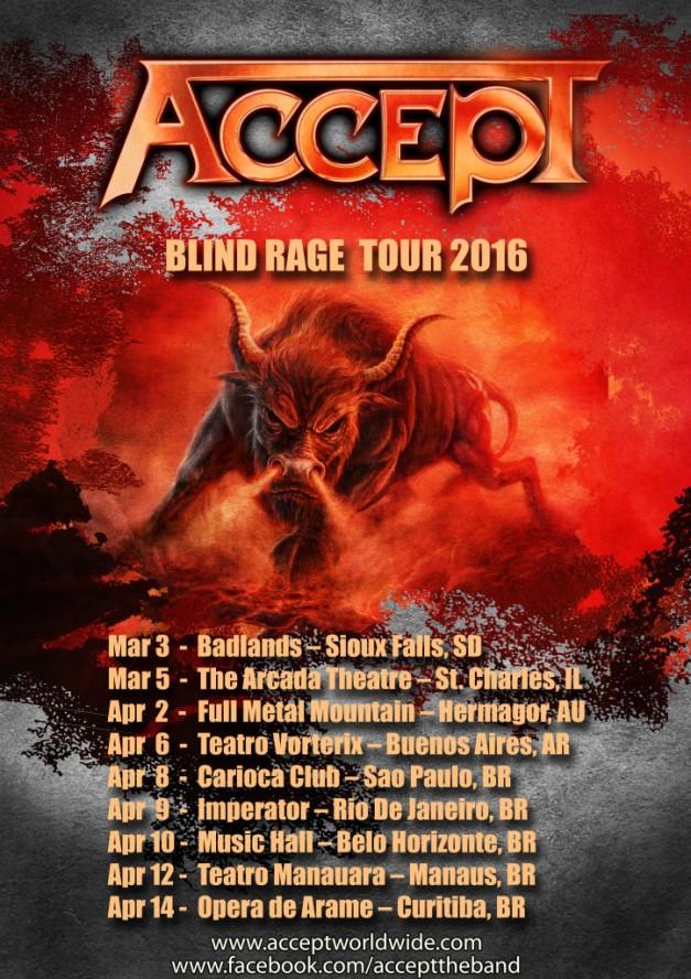 Accept Tour 2016