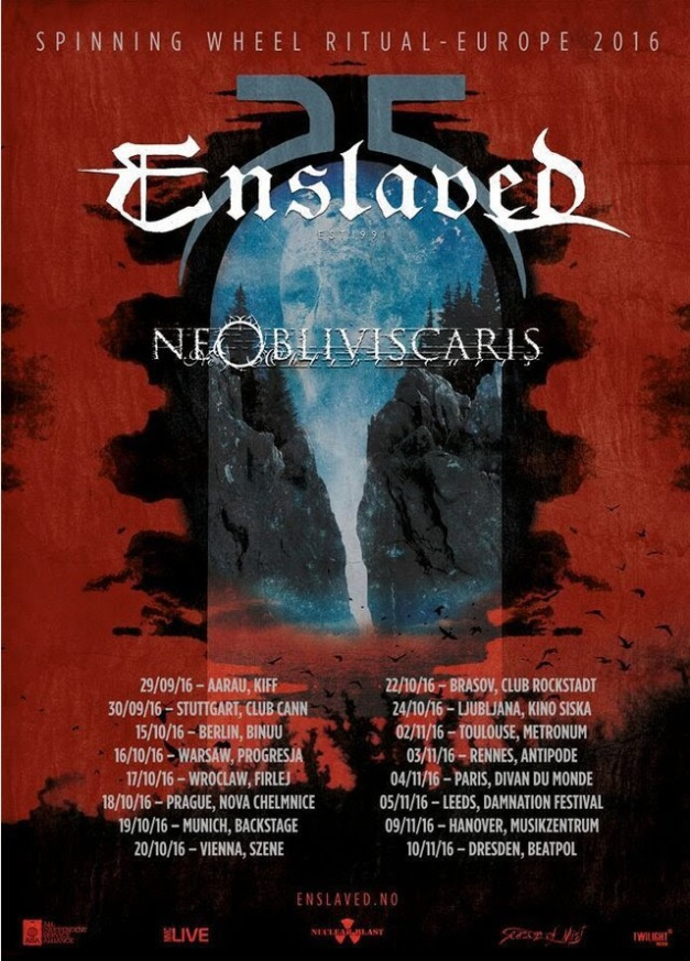 Enslaved 25th Anniversary Tour