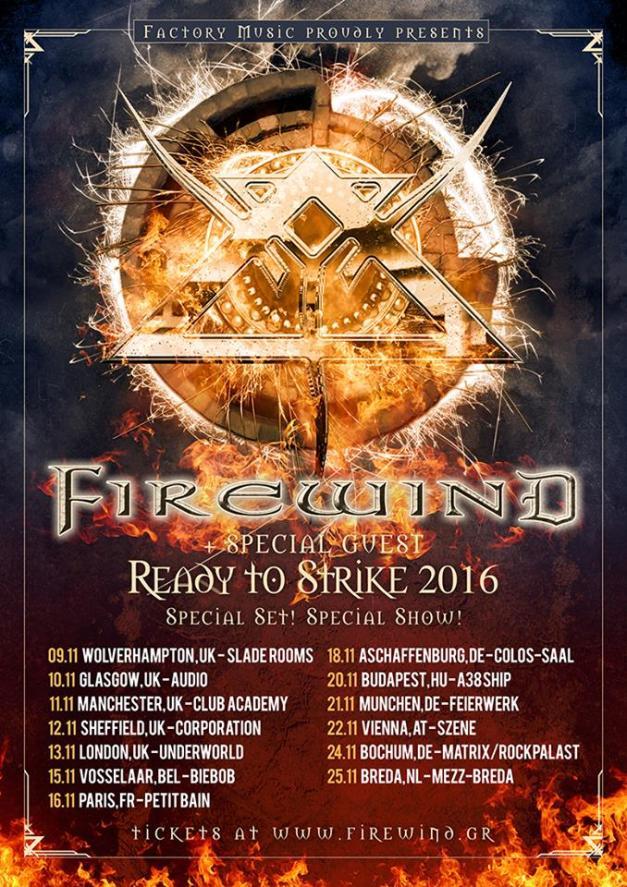 Firewind European Tour 2016