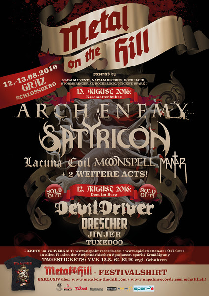 Metal On The Hill Festival Lineup 2016