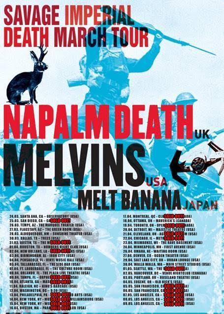 Napalm Death USA Tour 2016
