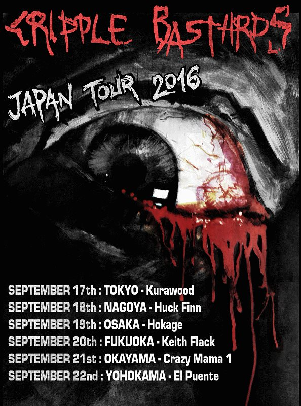 Cripple Bastards Japan Tour 2016