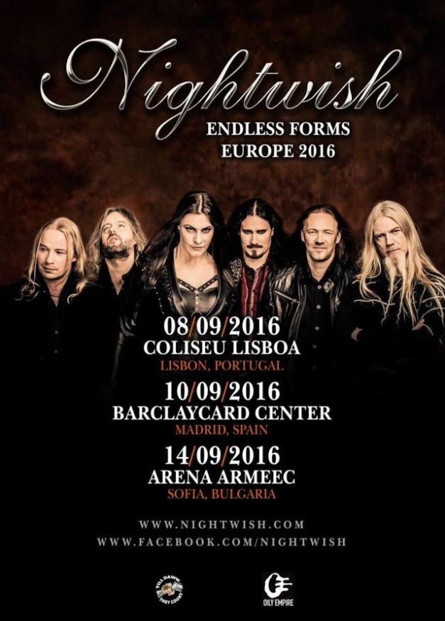 Nightwish new tour dates 2016