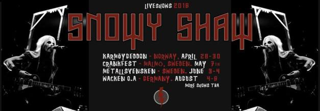 Snowy Shaw Live Shows 2016