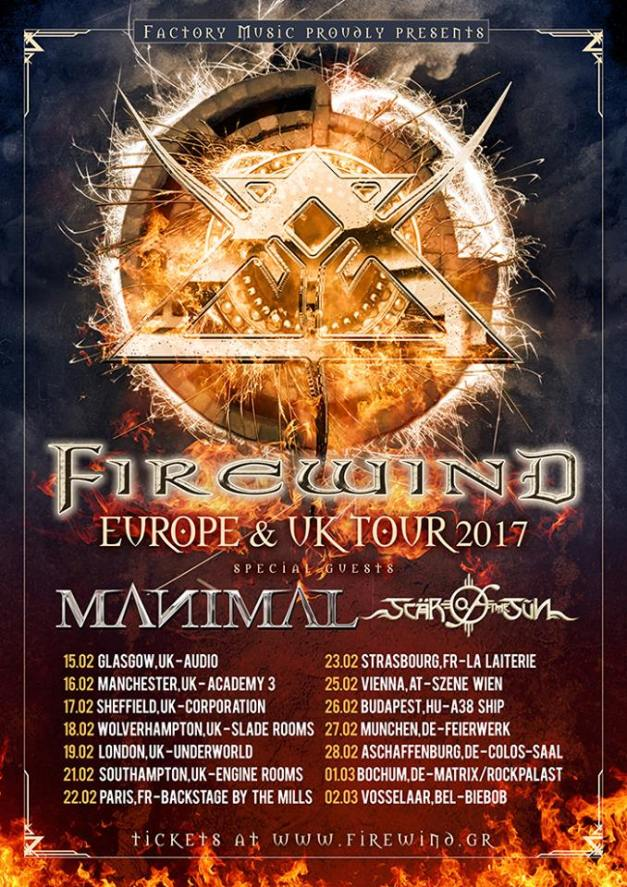 Firewind Europe and UK Tour 2017