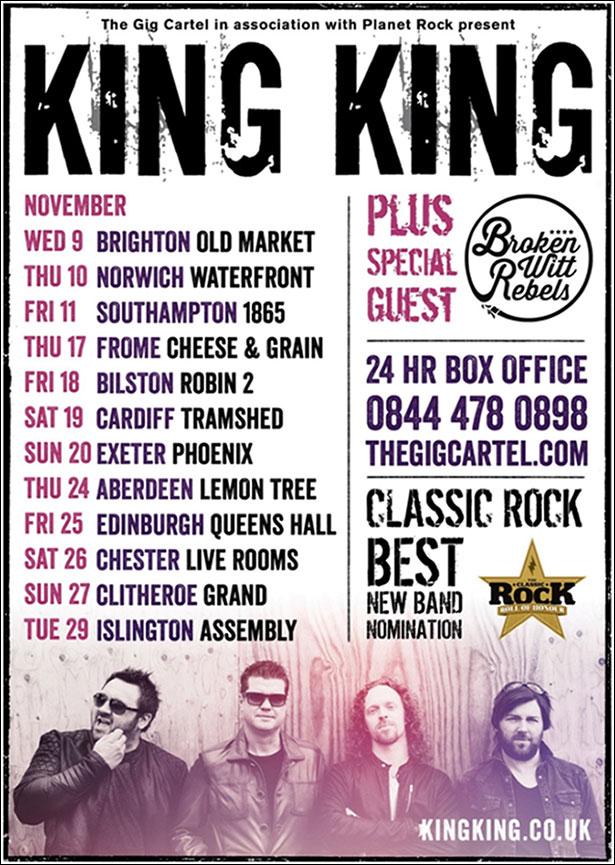 King King Tour Poster 2016