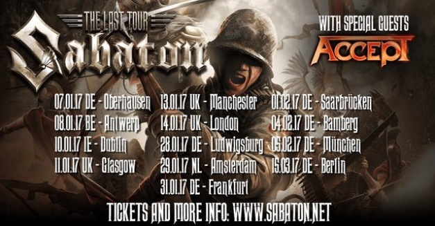 Sabaton The Last Tour 2017
