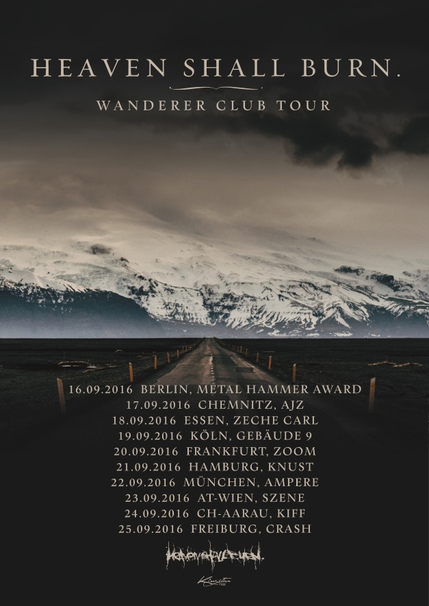"HEAVEN SHALL BURN – announce ""Wanderer Club Tour"""